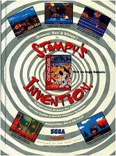 1993 Sega Genesis Ren & Stimpy REN'S INVENTION video game magazine print ad page