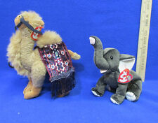 2 TY Beanie Babies Plush Original Stuffed Animals 1993 Lawrence & 2000 Trumpet