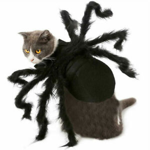 Pet Cat Dog Spider Costume Halloween Cosplay Clothes for Puppy Funny Party Prop