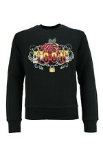 DSQUARED2JUNIOR SWEATER TATTOO ICON BLACK ZWART