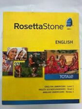 Rosetta Stone English (American) Level 1 Version 4 for Mac Windows NEW!