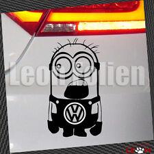 VW Minion-car-stickers Autoaufkleber Tattoo ca. 10x8 cm in Schwarz