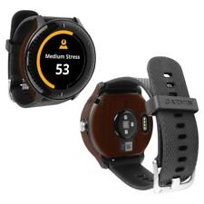 Skinomi Dark Wood Skin+Clear Screen Protector for Garmin Vivoactive 3 Music