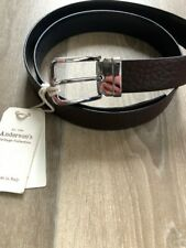 """BNWT - Anderson's belt - Grained Brown Leather 38"""" / 100 - Adjustable - RRP £90"""