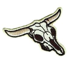 Bull Skull Applique Patch - Longhorn Head, Cowboy, Western (Small, Iron on)
