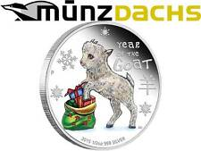 50 cent Baby Goat 1/2 oz Silver Year of the Goat Australia Tuvalu 2015 Proof