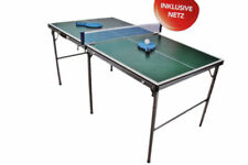 Midi tischtennisplatte klappbar tischtennis platte mit 2 schläger, 3 bällen, Net