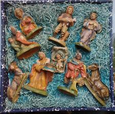 Figuras Del Belén 9-teilig Set Completo 10/15cm Pesebre de Navidad Accesorio