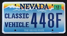 "NEVADA "" CLASSIC VEHICLE CAR AUTOMOBILE SILVER STATE NV Specialty License Plate"