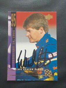 WARD BURTON NASCAR STAR SIGNED AUTOGRAPHED 1995 UPPER DECK NASCAR CARD