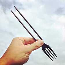 The Chork - Chopsticks and Fork in One (24 Pack) Black 24 Pack NEW FREE SHIP