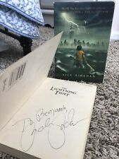 Percy Jackson The Lightning Thief Signed Rick Riordan Set RARE DISNEY PLUS