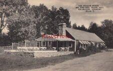 Postcard The Wagon Wheel Mr and Mrs Frank Hall Arlington Vermont VT
