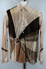 Vintage Kings Road Mens Long Sleeve Disco Shirt Size Small