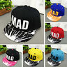 Trendy Hat Toddler Kids Baby Boys Girl Letter Baseball Hip Hop Bboy Snapback Cap
