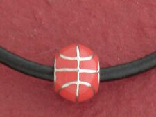 Basketball Necklace Leather Show you love the game Charm Pendant