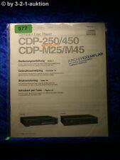 Sony Bedienungsanleitung CDP 250 / 450 / M25 / M45  CD Player (#0577)