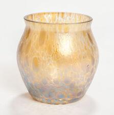 A Loetz Papillon Gold Iridescent Glass Small Vase - Art Nouveau Period