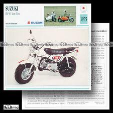 #008.17 SUZUKI RV 90 VAN VAN (VANVAN) 1975 Fiche Moto Mini-Bike Motorcycle Card