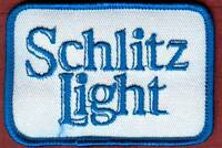 "Vintage Schlitz Light  Beer Distributor Cloth Patch 1970s 3"" x 2 ""  NOS New"