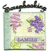 Scrapbooking - Hobbies - Scrapbook Album Embroidered Iron On Applique Patch