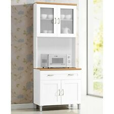 HODEDAH IMPORT Wooden Kitchen Or Dining Room Cabinet In White Finish HIKF92 New