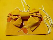 SALE Vintage Girls Easy Wear Pre-Tied Yellow 'Bunny' Tsukuri-Obi For Kimono GIFT