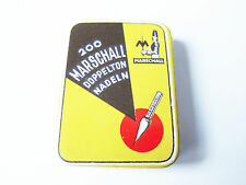 Grammophon NADELDOSE MARSCHALL DOPPELTON - MIT NADELN ! gramophone needle tin
