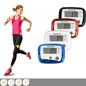 LCD Pedometer Step Walking Jogging Hiking Calorie Counter Distance Fitness Track
