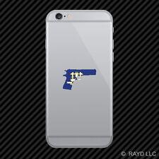 Connecticut Flag 1911CT 2a gun rights molon labe pro Cell Phone Sticker Mobile