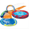 Banzai Cyclone Splash Park Inflatable with Sprinkling Slide and Water Aqua Pool.