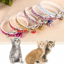 SUBLIME COLLIER  DORER / ROSE/BLEU  AVEC GRELOT  CHAT /CHATON   NEUF  REGLABLE