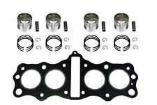 72-74 Honda CB350F 393cc Bigbore Pistons Kit 50mm  W/ Head Gasket 10-CB350FBB