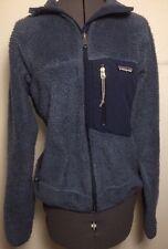 Women's Vintage Patagonia American Full Zip Deep Marine Sweater Fleece Jacket S