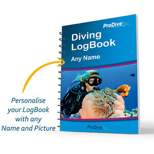 Personalized Scuba Diving Log Book Custom Made Logbook Divers Gift PADI
