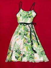 Tibi Green print Cotton Silk Blend dress size 2 original price $118