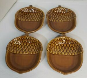 Pottery Barn (Set of 4) Acorn Serving Dishes Farmhouse Rustic Decor Fall Holiday