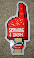 "DGK SCUMBAG Skate Sticker NUMBER ONE FINGER 1.5 X 3.5"" skateboards helmets decal"