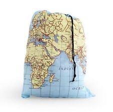 Wäschebeutel Wäschesack Kleiderbeutel Reisebeutel Schmutzwäsche Weltkarte