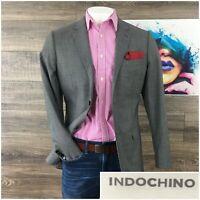 Indochino Bespoke Mens Blazer Size 40R 100% Wool Sport Coat  Jacket