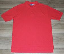VTG 1980s 1990s Levi's Red BIG E Polo Shirt Surf Skate Hipster Grunge Size Large