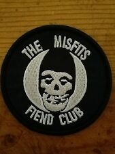 One The Misfits Fiend Club Embroidered Horror Punk Rock Patch Danzig Graves