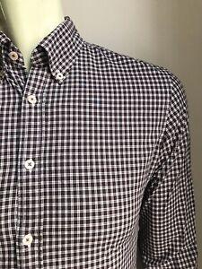 El Ganso Shirt, Carlton Plaid, Small, Excellent Condition