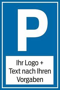 Parkplatz,Schild,Parkschild,Parkplatzschild, WUNSCHTEXT ohne Aufpreis
