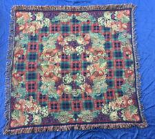 ancien chale ? brodé capitonné antique shawl ? nappe ?plaid ? Schal ?tablecloth?