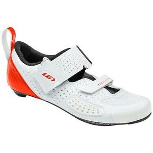 Louis Garneau Tri-X-Lite 3 Carbon Triathlon White Orange Shoes Size EU 49