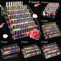 2-7 Tiers Acrylic Nail Polish Lipstick Cosmetic Display Stand Organizer Rack