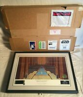 STAR WARS Limited Ralph McQuarrie signed Lithograph REBEL CEREMONY BOX 122/2500