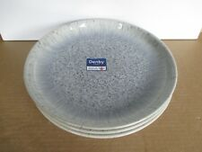 Denby Halo Speckle 3 x Coupe Dinner Plates New First Quality Excellent Condition