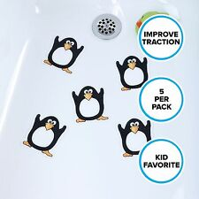 "Penguin Tub Tattoos (5"" x 5""): Black & White Tub Stickers by SlipX Solutions"